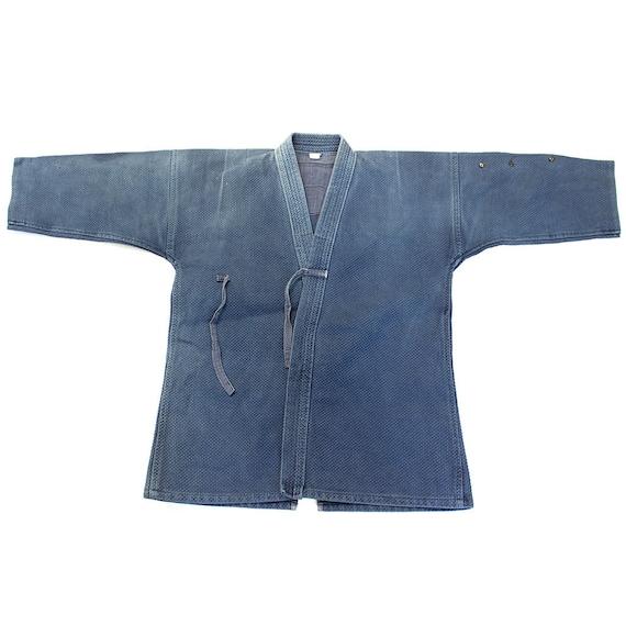 Vintage Indigo Kendo Jacket with Sashiko Stitching