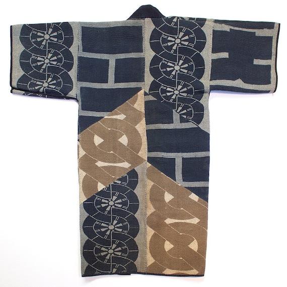 Antique Japanese Sashiko Fireman's Long Coat