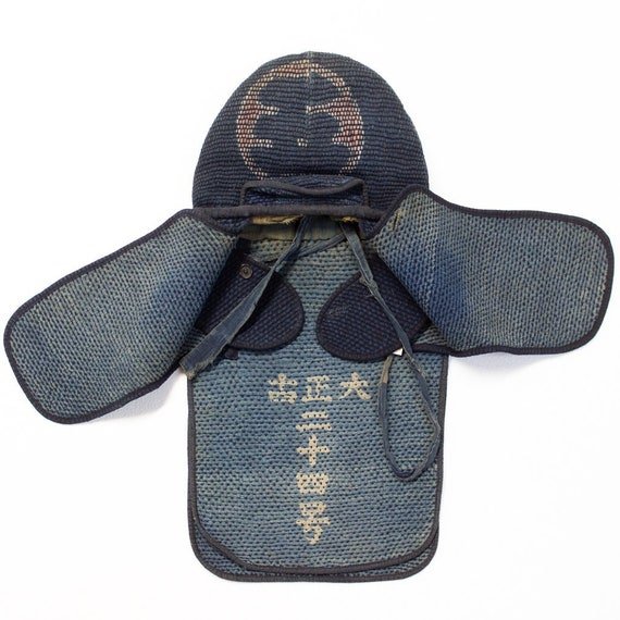 Japanese Sashiko Fireman's Hat