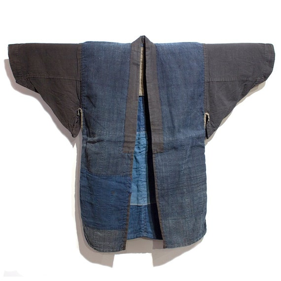 Japanese Boro Patchwork Indigo Coat