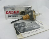Vintage Dalex English Silver Plated Liquor Measure Pourer Bottle Stopper - Unusual size (FREE SHIPPING)