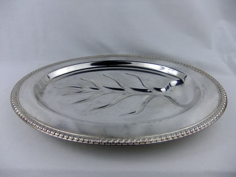 Vintage Wm Rogers Silver Plated Meat Platter FREE SHIPPING