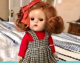 Early 1950's PL Ginny Doll with 1957 Outfit—Marked Vogue Doll on Back