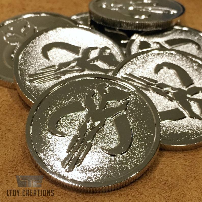 Sabacc Mandalorian Challenge Coins (Star Wars: Han Solo Movie Prop) Metal  Collector's Edition