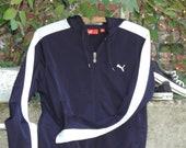 90 39 s HOODIE Streetwear Puma TRACK Jacket Athleisure Athletic Wear Warm Up Track Field Jacket Puma Women 39 s Sports Workout Casual Wear size S