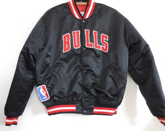 2fe2a9678339d1 80 s NBA Chicago Bulls Starter Jacket Nylon Jacket Lined Made in USA size L