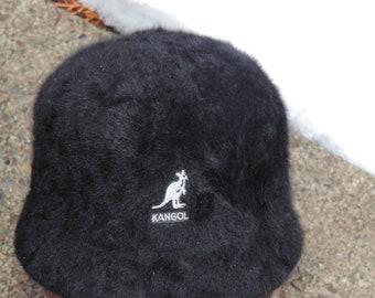 1c080876a2f3a 90 s KANGOL Black Furgora Bin Angora Hat Hip Hop Hipster Cap Accessories M