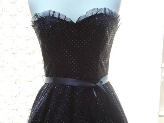 Gunne Sax Dress Prom Sweetheart Ball Gown Black E… - image 3