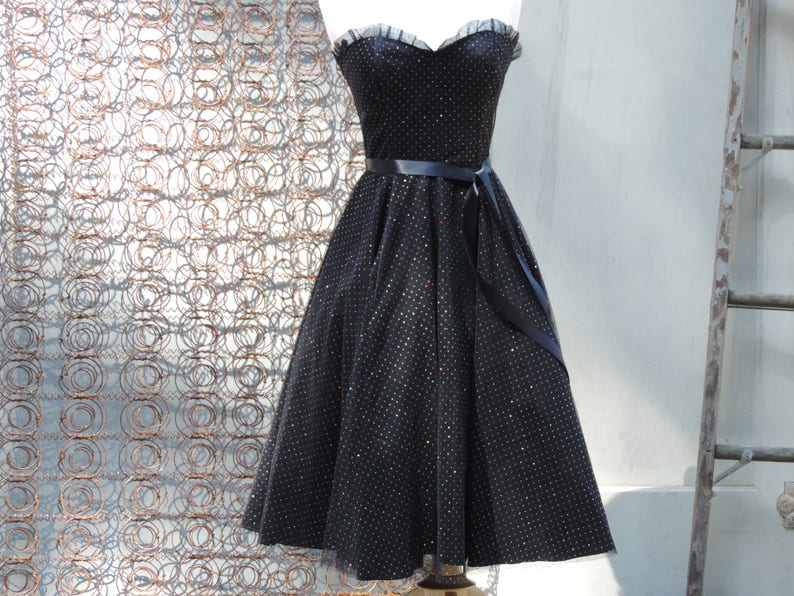 bf1cd20f988 80 s Gunne Sax Prom Dress Sweetheart Ball Gown Black
