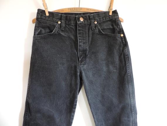 High Waist Black Jeans Wrangler Black Denim Mom Je