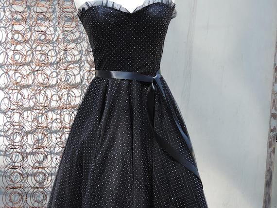 Gunne Sax Dress Prom Sweetheart Ball Gown Black E… - image 5