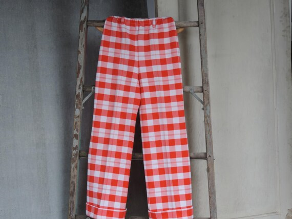 60's Jantzen Mod Pants Gingham Polyester Trousers