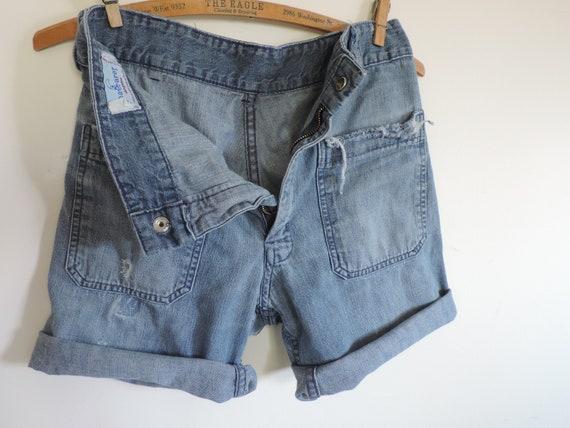 70's High Waisted Seafarer Denim Jeans Cutoff Seaf