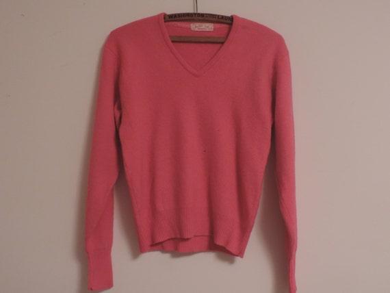 50's JANTZEN Sweater V Neck Pull Over Kharafleece