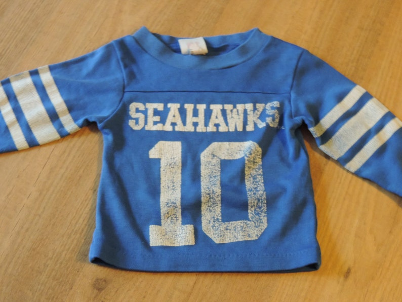 the latest 7c086 7b0a7 80's SEATTLE SEAHAWKS Jersey Child's Seattle Seahawk T Shirt NFL Licensed  Toddler Clothing 1980's Jim Zorn #10 size 2T