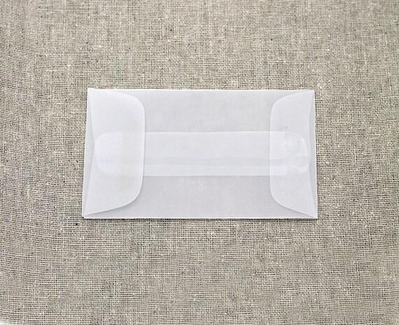 25 mini translucent vellum envelopes seed envelopes colourmoves