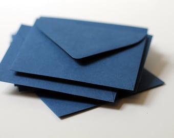 "25 Mini Navy Blue Envelopes - Escort Card Envelopes - 2.6875 x 3.6875 inches (2 11/16"" x 3 11/16"") - Mini Guestbook Envelopes"