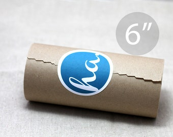 "6"" Kraft Wrapping Paper Roll - 180 feet (60 yards) – Lightweight"