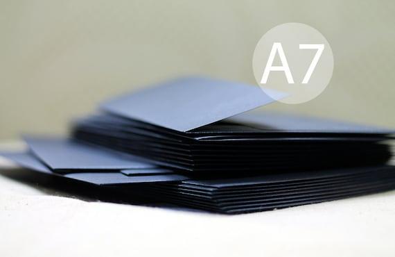 "25 5x7 Metallic Navy Blue Envelopes - Wedding Envelopes - A7 Metallic Blue Envelopes (true size 5 1/4"" x 7 1/4"")"