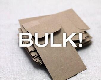 """BULK! 100 Mini Kraft Seed Packet Envelopes - for Seed Packet Wedding Favors - Mini Envelopes - Favors Birthday - Baby Shower 2 1/4"""" x 3 1/2"""""""