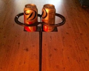 Horseshoe Drink Stand - Coffee Cup Holder - Rustic Decor - Western Home Decor - Cowboy Decor