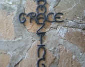 Amazing Grace Cross - Rustic Decor - Western Home Decor - Cowboy Decor