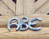 Horseshoe Letters - Rustic Decor - Western Home Decor - Cowboy Decor