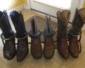 Horseshoe boot rack, Boot...