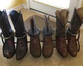 Horseshoe Boot Rack - Cowboy Boot Rack - Cowboy Boot Storage - Rustic Decor - Western Home Decor - Cowboy Decor