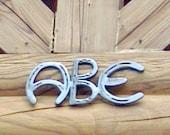 Horseshoe Letters - Rustic Decor - Western Home Decor - Cowboy Decor