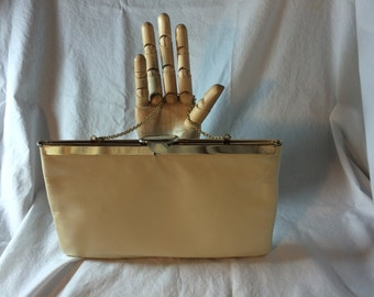 Lovely Off-White Leather Vintage Etra Clutch