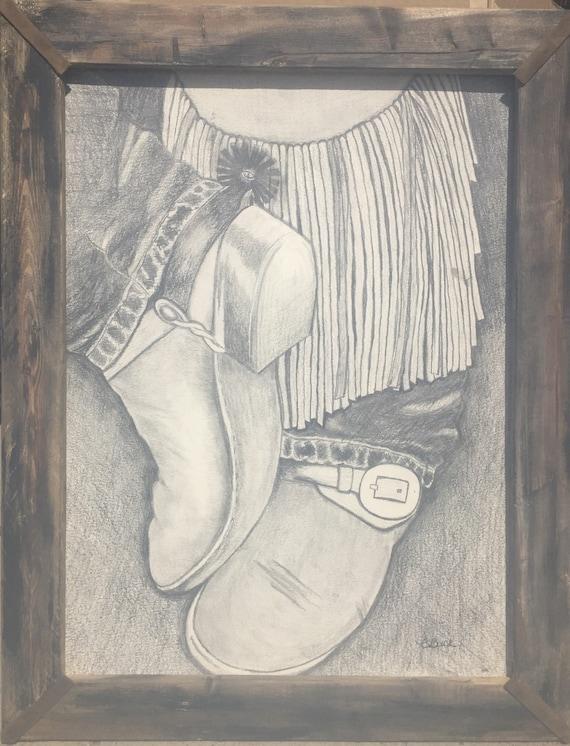 Cool Cowboy Spurs Art