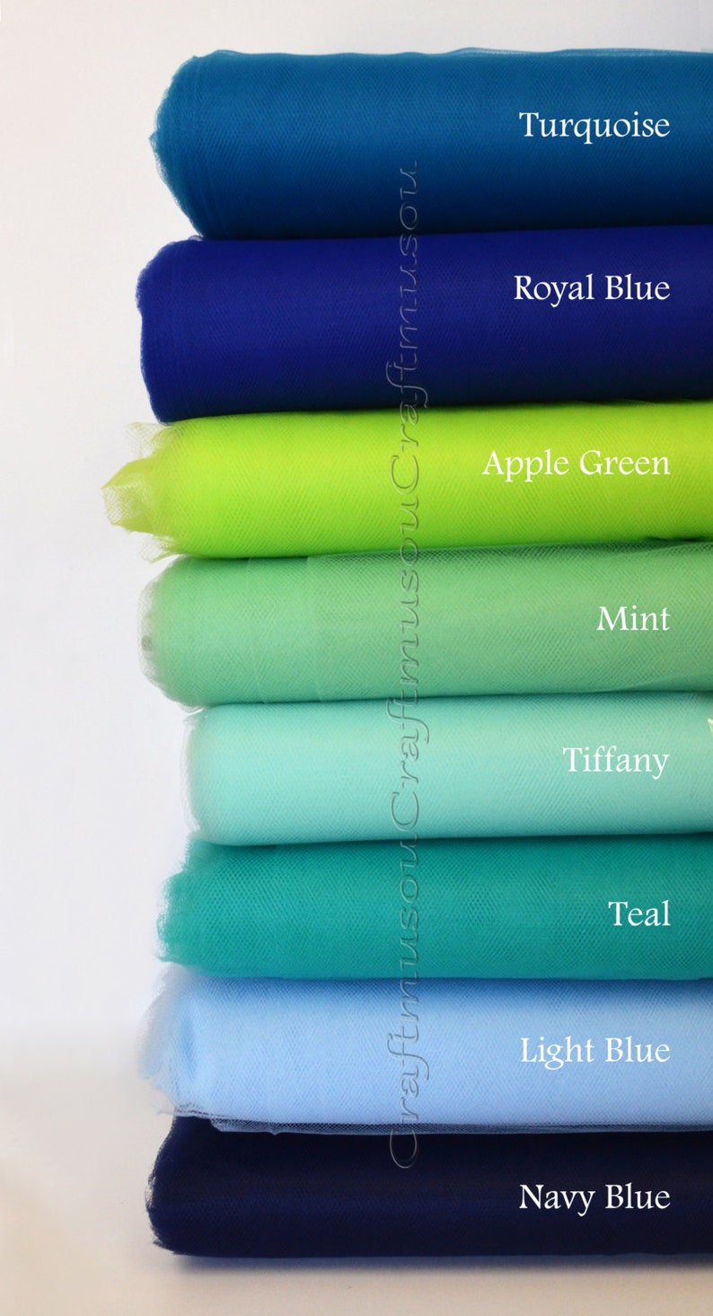 - over 20 colors to pick 5 bolt Tulle Bolt 54 X 600 Feet 200Yard