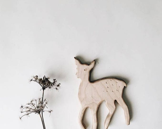 Featured listing image: Florence the Fawn Natural Wooden Teether Wooden Grasping Toy
