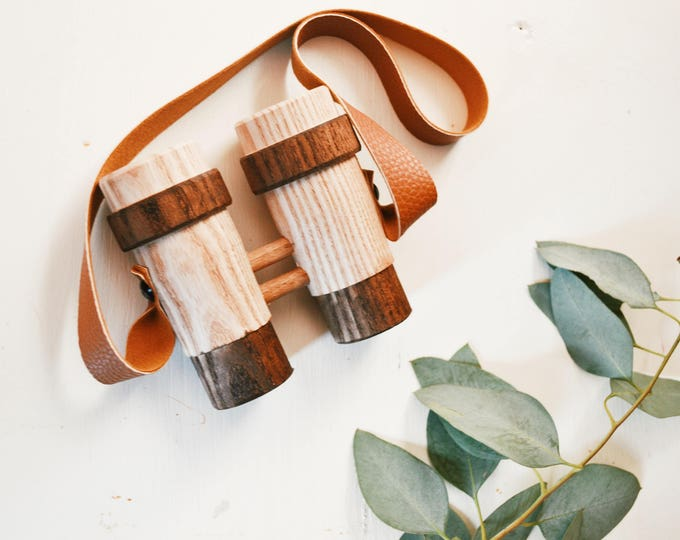 Featured listing image: Preorder Handturned Wooden Toy Binoculars