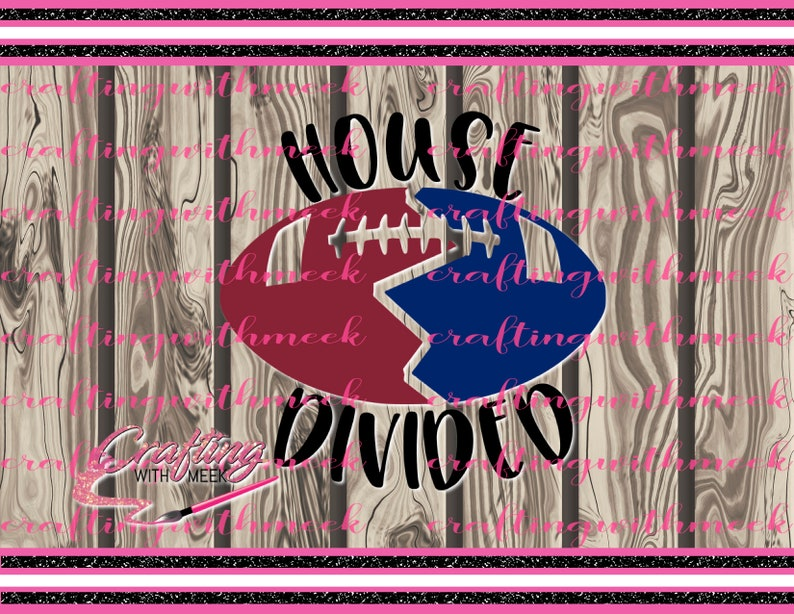 Football House Divided SVG - Cricut Design Space - Silhouette Cameo - SVG  Cutting Files