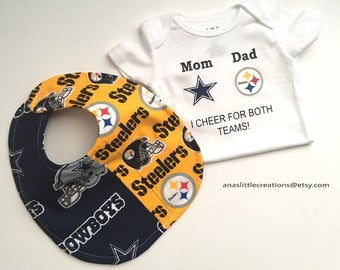 Steelers-Cowboys Bodysuit and Bib 0852d7a22