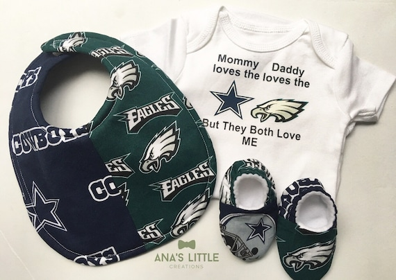 House Divided Eagles Cowboys Bodysuit Bib and Shoes  216aaee63