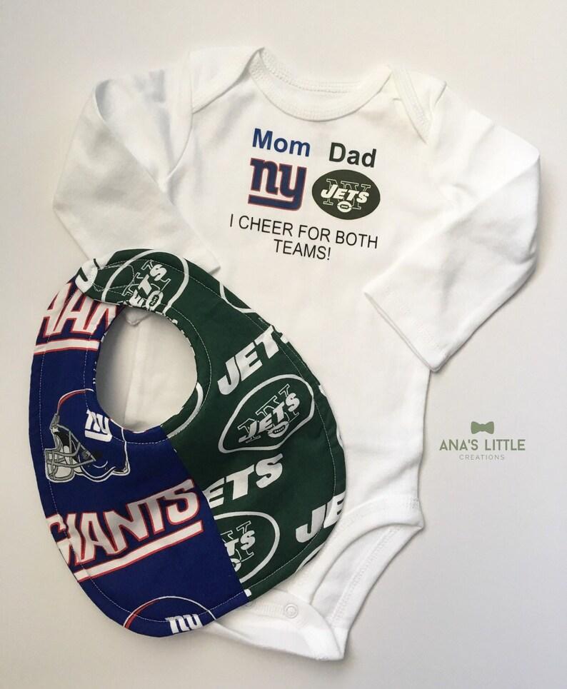 950a1ad2626 Jets Giants Bodysuit and Bib New York Jets-New York Giants