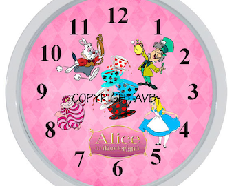 Alice in Wonderland Clcok