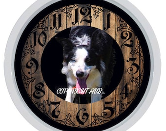 Border Collie Dog Custom Made Wall Clock