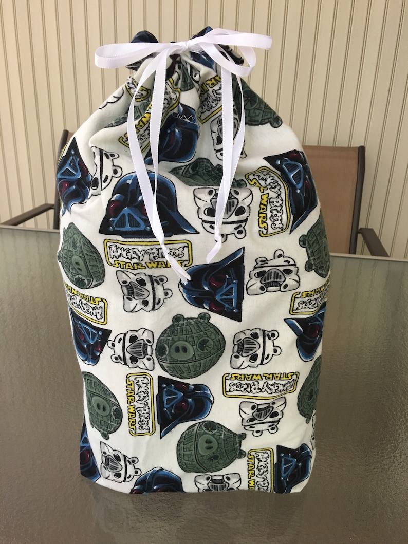 Fabric gift bag kids gift bags 3 sizes with Star Wars and Angry Birds