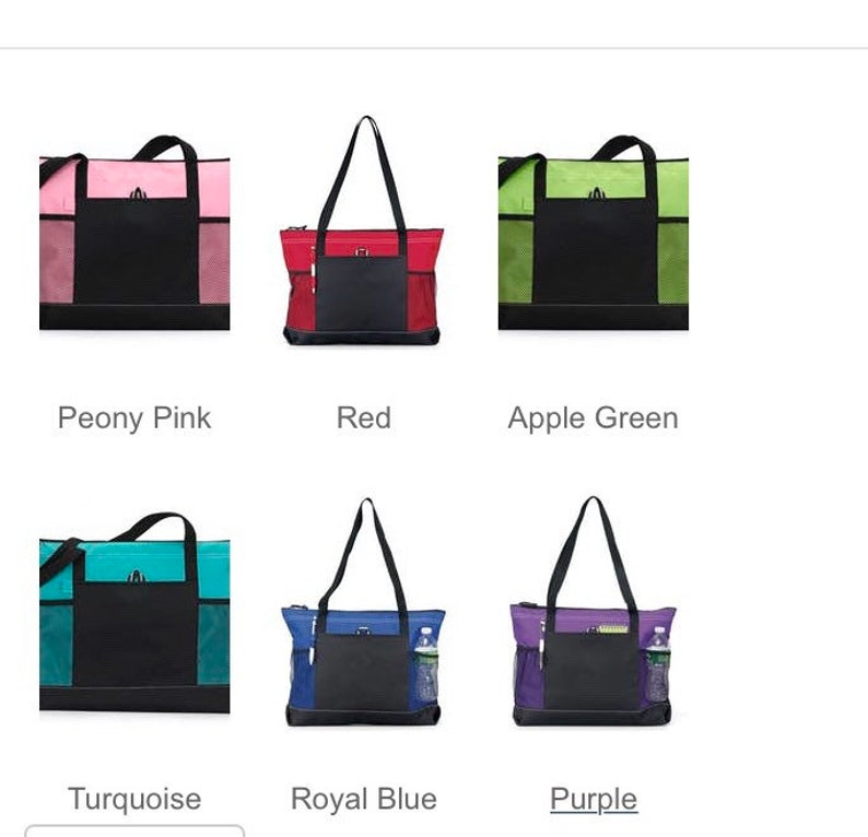 Customizable tote bag with pockets