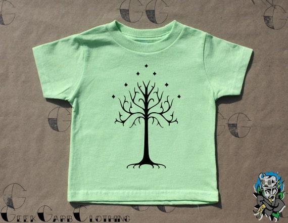 TREE OF GONDOR Toddler T-shirt rabbit skins 2-5T lotr lord rings hobbit kids tee
