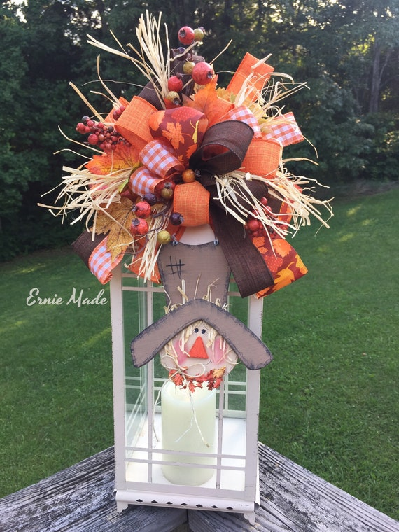 Lantern Swag Fall Centerpiece Fall Swag Scarecrow Fall Lantern Decoration Lantern Decor Fall Lantern Bow Autumn Lantern Decoration