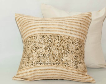Pair of pillow cover - Jim Thompson 20x20 Invisible Zipper Pillow Cover - Cotton Pillow Case - Brown Pillow - Decorative Pillow