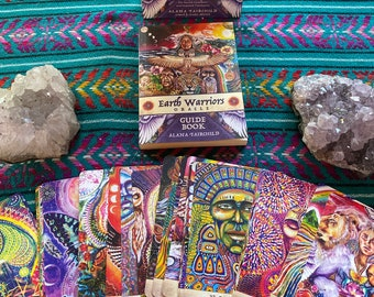 New Edition Signed Earth Warrior Oracle Card deck set with guide book