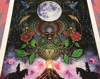 Moon Heart Fire large size signed print