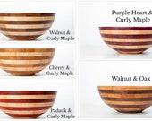 """15"""" x 6"""" Layered Pattern segmented wood bowls"""