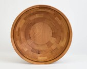 "Large Wood Bowl 15"" x 5"" Rustic Oak and Walnut"